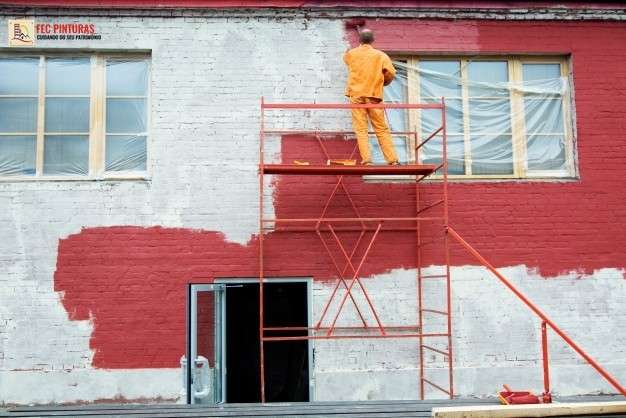 Restauração de fachada de prédio